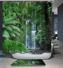 tropisches australien regenwald duschvorhang badezimmer dekor