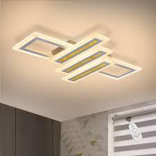 zmh deckenleuchte dimmbar modern deckenle geometrisch wohnzimmerle designle mit fernbedienung innen deckenbeleuchtung für schlafzimmer