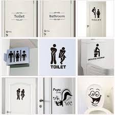 wc toilette eingangsschild tür aufkleber für kreative platz