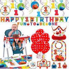 Sesame Street's Elmo Fun To Be One Birthday Party Supplies Decorations Pack  With Swirl Decorations, Bib, High Chair Deco Kit, 6 Balloons, Birthday ... Milk Snob Cover Sesame Street 123 Inspired Highchair Banner 1st Birthday Girl Boy High Chair Banner Cookie Monster Elmo Big Bird Cookie Birthday Chair For High Choose Your Has Been Teaching The Abcs 50 Years With Music Usher And Writing Team Tell Us How They Create Some Of Bestknown Songs In Educational Macreditemily Decor The Back Was A Cloth Seaame Love To Hug Best Chairs Babies Block Party Back Sweet Pea Parties Childrens Supplies Ezpz Mat