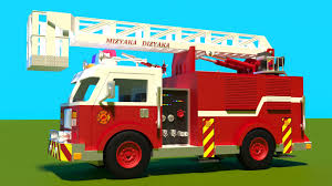 Fire Trucks For Children Kids. Fire Trucks Responding. Construction ...