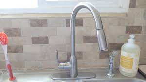 Water Ridge Pull Out Kitchen Faucet Manual by Kitchen Faucet Install Brushed Nickel Youtube