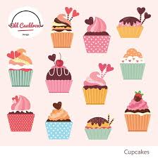 Cupcakes clipart mercial use sweets birthday clipart cake clipart vector graphics