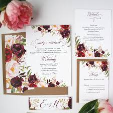 Burgundy Wedding Invitations Blush