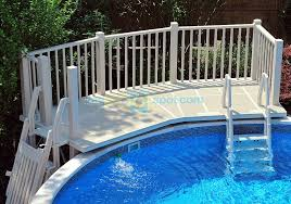 Above Ground Pool Deck Images by 5x13 Above Ground Pool Deck Vinyl Works Pre Fab Pool Deck Systems