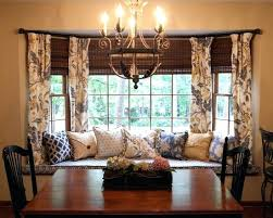 Smart Dining Room Curtain Ideas Unique Blue And Yellow Kitchen Design Love The Window Seat Than