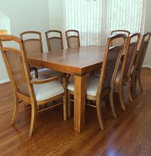 drexel heritage woodbriar dining table and eight chairs ebth