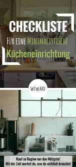 checkliste für eine minimalistische kücheneinrichtung