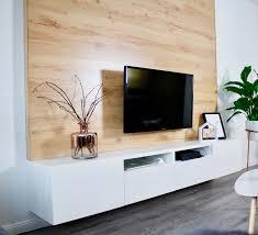 diy tv wand aus holz bauen selfmade interior