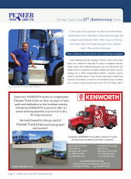 100 Pioneer Trucks Business In Edmonton September 2012 Issue By Kenji Doshida