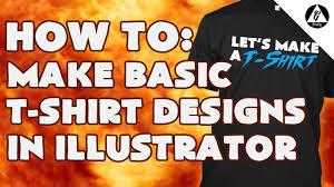 how to create a basic t shirt design in adobe illustrator cs6