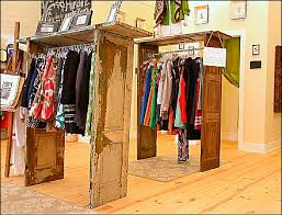 Shutter Door Clothing Racks In Retail