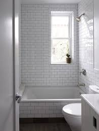 new york Metro Tiles bathroom contemporary with shower tile