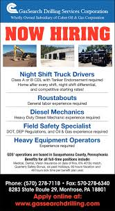 100 Oil Trucking Jobs NIght Shift Truck Drivers Roustabouts Diesel Mechanics Field