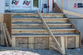 fabriquer un escalier de béton