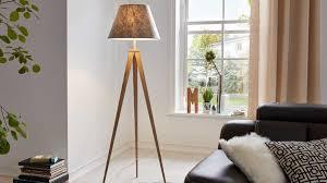 interliving leuchten serie 9304 stehleuchte filzgrauer stoff höhe ca 156 cm