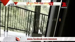 Delhi Metro train runs between stations with doors open driver