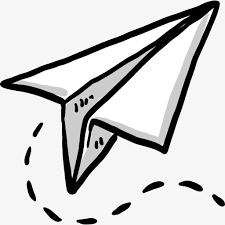 White paper airplane Paper Airplane Cartoon White PNG Image and