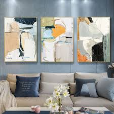 kunst modern abstract watercolor canvas poster contemporary