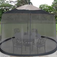Square Patio Umbrella With Netting by Patio Umbrella Mosquito Netting Target