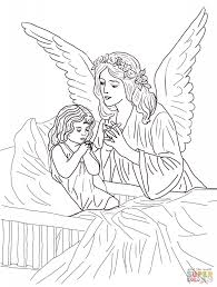 Guardian Angel Prayers Coloring Page Free Printable Pages Inside Prayer To Print