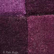 tapis aubergine pas cher tapis tufté aubergine squared flair rugs 80x150