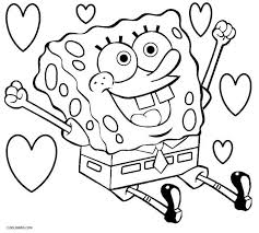 Interesting Sponge Bob Coloring Pages Spongebob