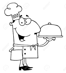 Black and white chef clipart