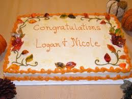 Fall Sheet Cake W Gumpaste Edible Leaves 5500
