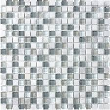 shop allen roth venatino squares mosaic and glass