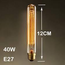 2017 40w classical vintage retro e27 filament t10 edison bulb