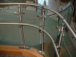 Hand Made Stainless Steel And Fluted Glass Railing By Foreman ... Glass Stair Rail With Mount Railing Hdware Ot And In Edmton Alberta Railingbalustrade Updating Stairs Railings A Split Level Home Best 25 Stair Railing Ideas On Pinterest Stairs Hand Guard Rails Sf Peninsula The Worlds Catalog Of Ideas Staircase Photo Cavitetrail Philippines Accsories Top Notch Picture Interior Decoration Design Ideal Ltd Awnings Wilson Modern Staircase Decorating Contemporary Dark