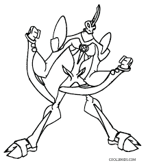 Ben 10 Alien Force Coloring Pages Swampfire Firecom Vonsurroquen