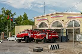 100 Old Fire Trucks VOLGOGRAD AUGUST 29 Are In Full Readiness On The