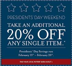 Pottery Barn Outlet  off e Item Coupon Hunt4Freebies
