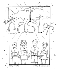 Awesome Happy Easter Religious Coloring Pages With