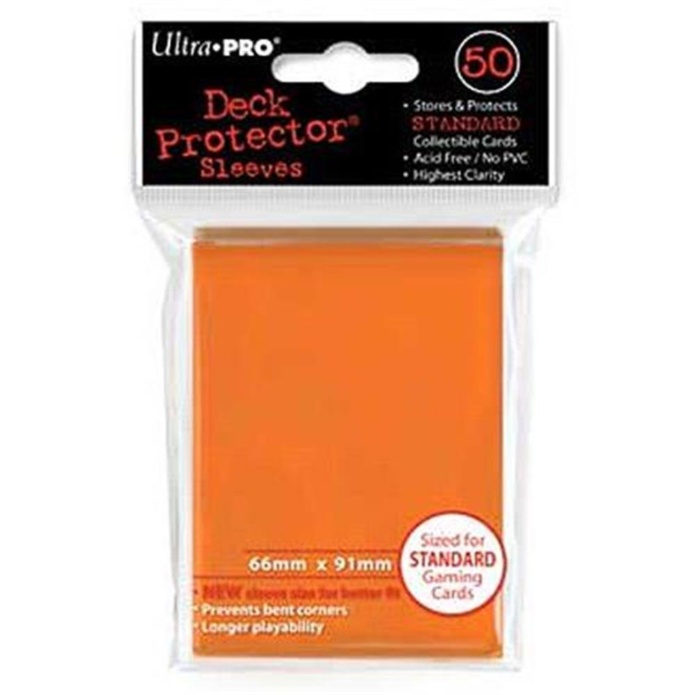 Ultra Pro Gaming Card Game Sleeves - Orange, 66mm x 91mm