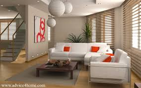 wall and white sofa set design in living room with hanging