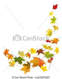 Autumn Colored Leaves Falling Stock Illustration