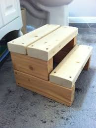 Wood Step Stool Bathroom Kid By ETFinspirations