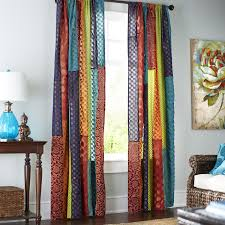 Pier One Curtain Rods by Sari Patchwork Curtain Patchwork Curtains Saris And Patchwork