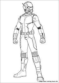 Ant Man Coloring Pages On Book
