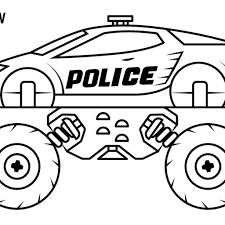 Free Thanksgiving Monster Truck Coloring Pages 22 Police : 2019 ...
