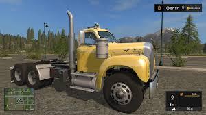 100 Old Mack Trucks OLD MACK B61 V8 TRUCK V10 FS17 Farming Simulator 17 Mod