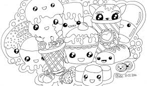 Kids Coloring Pages For Girls Kawaii Kitty Sushi Unique Colouring Best