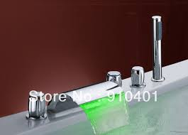 color changing led light new highest quality brass tub faucet with