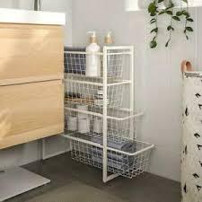details zu ikea regal schublade schrank badezimmer küche rahmen mit drahtkörben25x51x70 cm