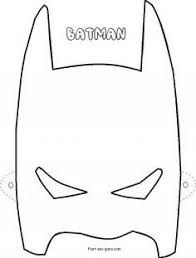 Printable Superheroes Batman Mask Coloring Pages Cutouts In