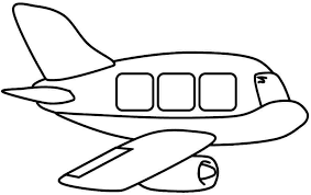 Air transportation clipart black and white