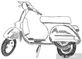 fototapete motorroller roller motorrad mofa moped italien